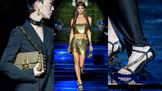 2022春夏米蘭時裝週|Fendi攜手Versace華麗推出Fendace聯名系列,Peekaboo、Baguette換上富豪金新色