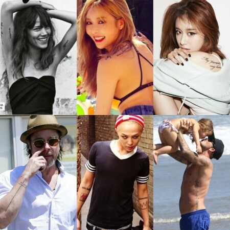 明星們有意義的「字樣刺青」圖案!泫雅、G-Dragon、貝克漢等明星刺青參考