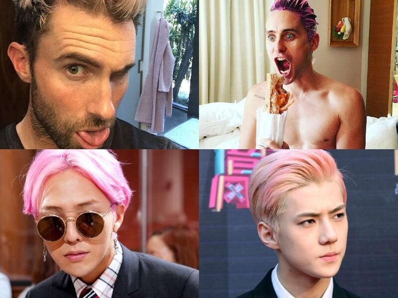 好可口的粉嫩男人!粉紅髮色男星比萌