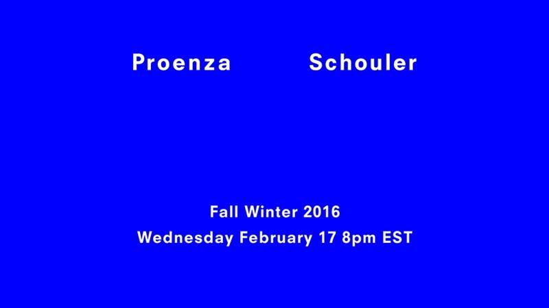 【紐約時裝週Live】Proenza Schouler秋冬大秀倒數:2月18日早上9點正式登場!