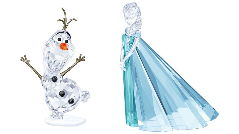 Elsa、雪寶好想帶回家!施華洛世奇打造冰雪奇緣水晶雕像