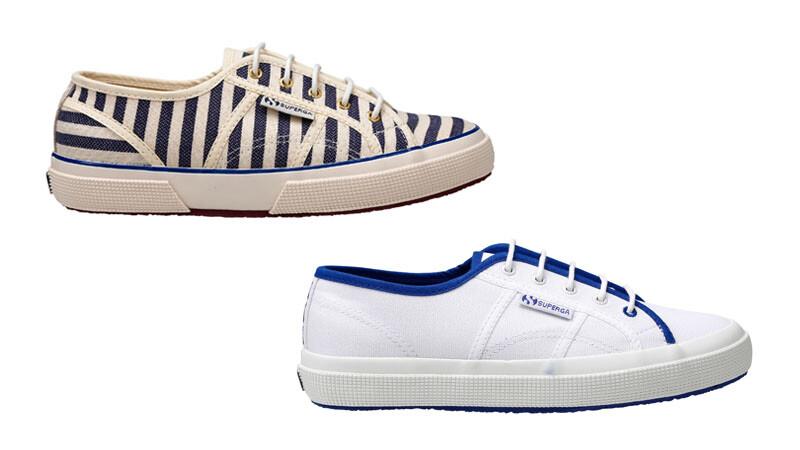 清爽藍白風格Scotch & Soda X Superga推出聯名款帆布鞋