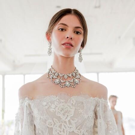 用珠寶點亮婚紗造型
