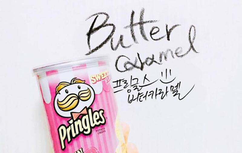 韓國限定的粉紅品客!奶油焦糖口味成了韓妞拍照新法寶