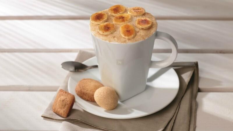 用Nespresso全新經典Envivo Lungo咖啡特調!焦糖香蕉甜心、櫻桃冰咖啡自己就能做