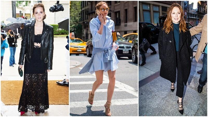 這樣搭就是走進時尚圈的第一步!歐美女星都迷的Aquazzura綁帶鞋