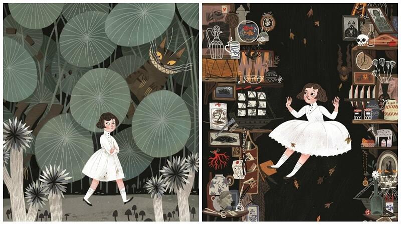 跟插畫家一起掉進絕美的愛麗絲夢遊仙境