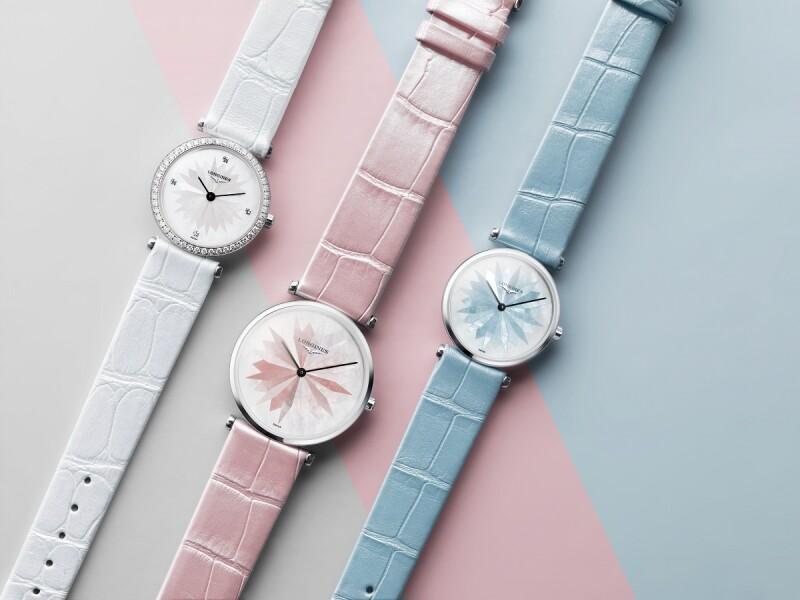 LONGINES浪琴表優雅粉色腕錶 百搭演繹派對時尚