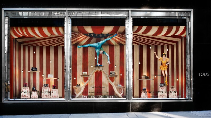 紐約麥迪遜大道上的馬戲團世界!TOD'S Circus華麗主題櫥窗