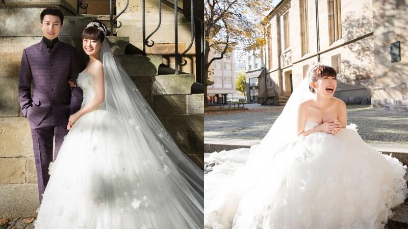 超可愛的桌球夫妻!江宏傑、福原愛德國浪漫婚紗照曝光
