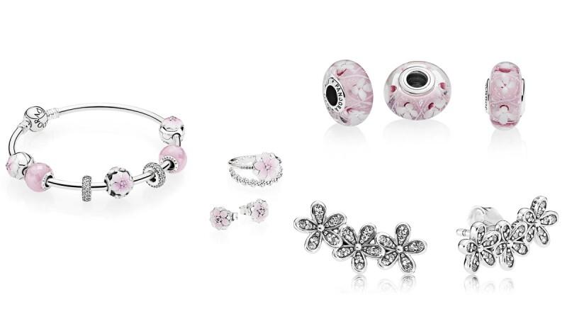 粉色、白色花朵鑲入PANDORA串飾上!春季系列珠寶初登場