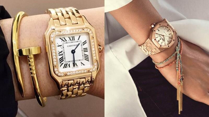 金屬細節讓你的手錶更有個性:Cartier、Audemars Piguet愛彼錶、Van Cleef & Arpels...金屬鍊錶太時髦!