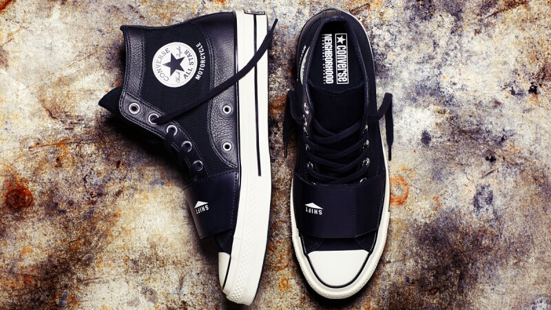 Converse聯名日本街頭品牌Neighborhood!打造全黑皮革軍裝復刻鞋