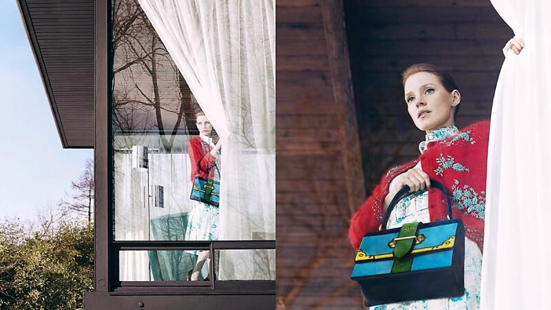 穿越平行時空的另類攝影作品!Jessica Chastain詮釋PRADA 365形象大片