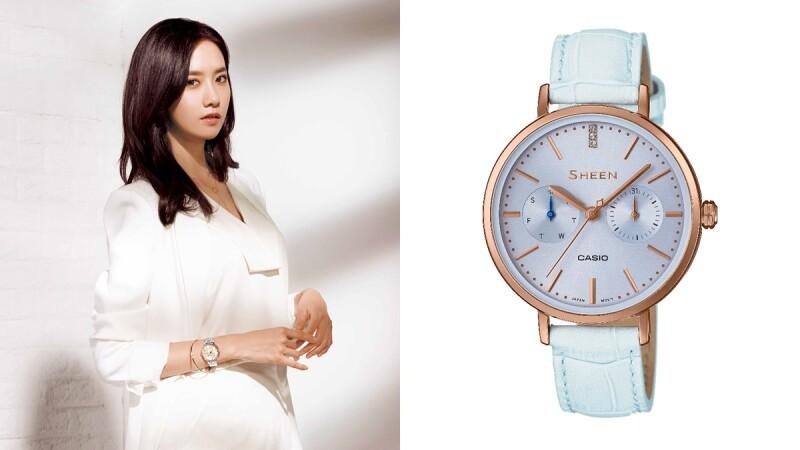 適合夏日女孩的粉嫩色腕錶!CASIO SHEEN系列找來少女時代玩穿搭