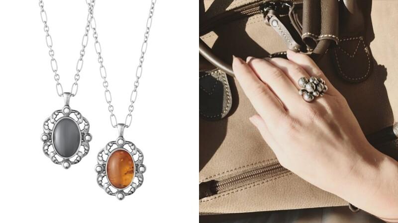 亞洲限量灰月石、台灣獨賣琥珀項鍊... Georg Jensen喬治傑生Heritage年度紀念系列時髦上市!