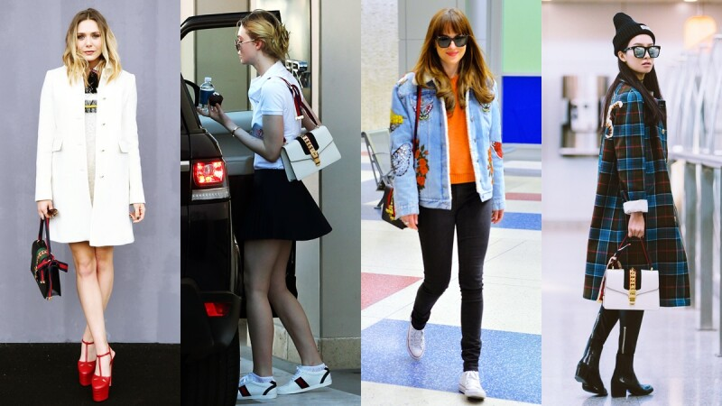 Gucci Sylvie包原來還有這些穿搭法!小S、Angelababy、達珂塔強生都愛的綠紅織帶It Bag