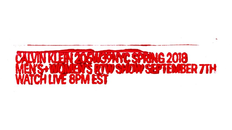 【Live】線上看!Calvin Klein 2018春夏大秀,將在9/8早上8點登場