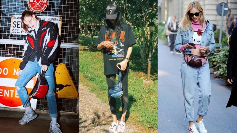 腰包絕對強勢回歸!女星潮模們的MIU Rider腰包中性風穿搭示範