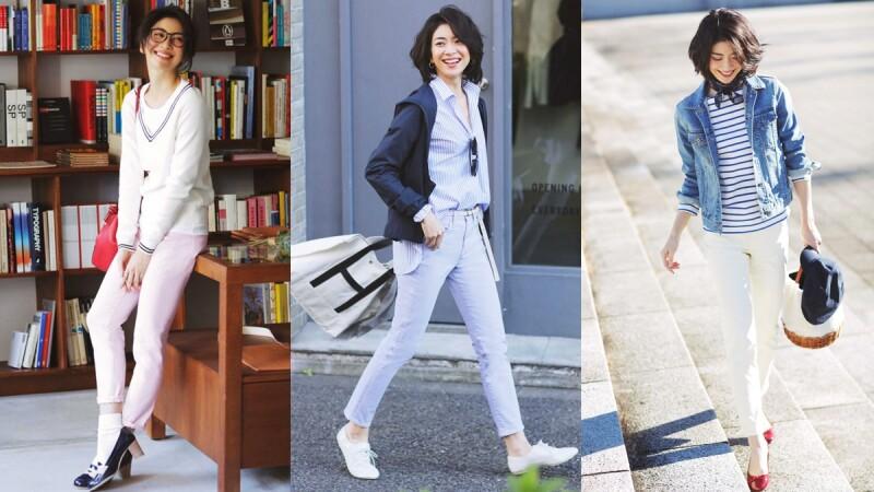 春天的衣櫃就要這些粉彩色單品!4款煙管褲穿搭打造4種風格
