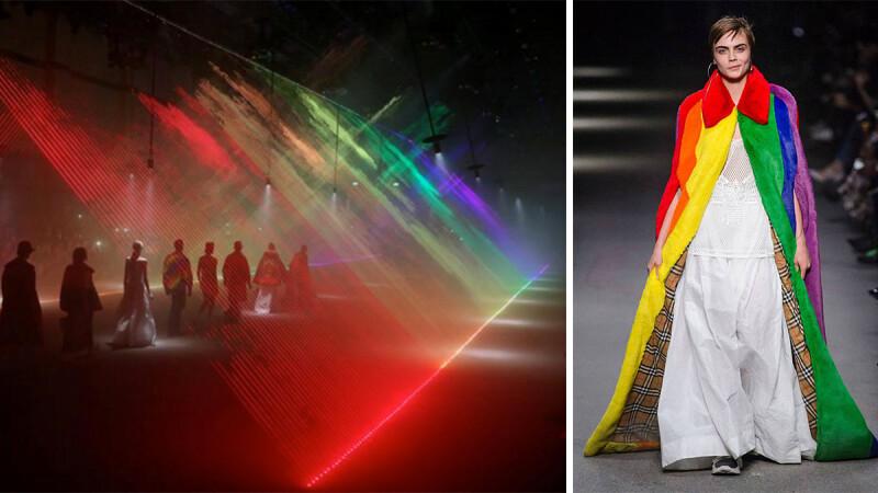 【倫敦時裝週】感動到眼淚快掉下來!當彩虹旗幟在Burberry秀場飄揚並閃閃發亮
