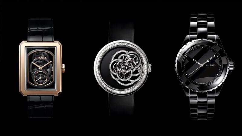 黑色機芯的Boy.Friend、黑色陶瓷鍊帶的Code Coco、黑瑪瑙錶盤的鏤空山茶花系列...Chanel香奈兒2018年新錶有點帥!