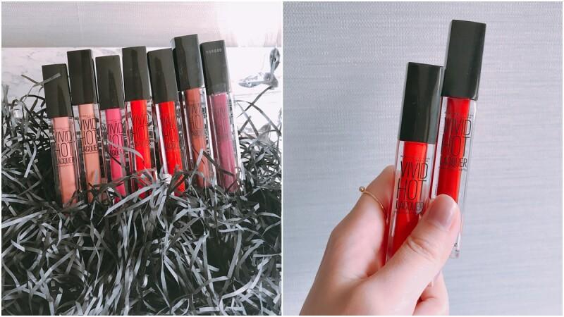 持久度、顯色度都升級,是開架最強的鏡光效果!媚比琳再推全新7色光療鏡漾唇釉