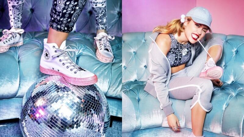 粉紅底帆布鞋讓女孩瘋狂!Converse 攜手Miley Cyrus推出限量聯名系列