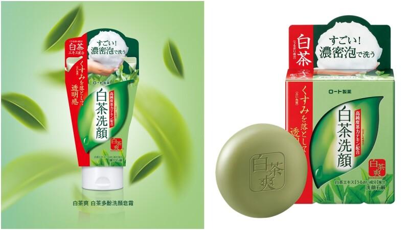 全台康是美獨家販售!去日本必敗的潔顏「樂敦製藥白茶爽潔顏系列」洗完肌膚自然透亮真的有感