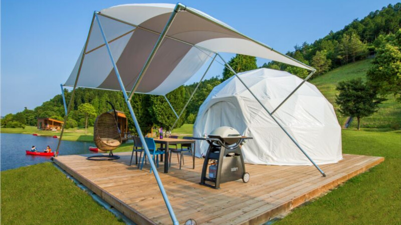 帳篷不用自己搭!享受最Outdoor的時尚露營,日本滋賀縣的「GLAMP ELEMENT」絕對是閨蜜&情侶最美的回憶~