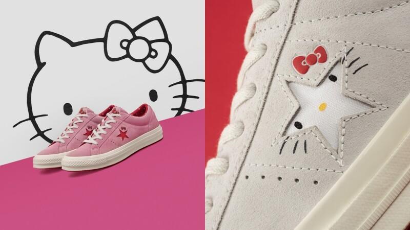 每個細節都可愛!Converse x Hello Kitty聯名系列帆布鞋 讓人少女心爆炸