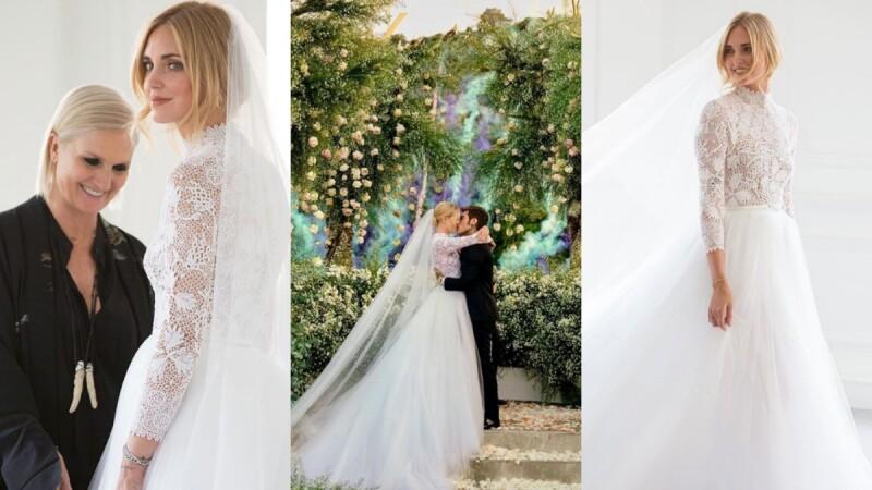 可媲美為義大利版皇室婚禮!部落客始祖Chiara Ferragni的夢幻婚紗、禮服行頭解析