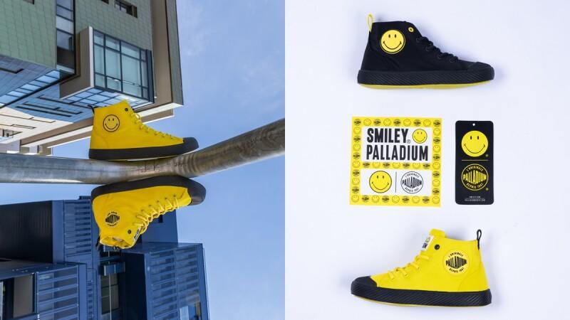 超可愛笑臉讓人一穿心情就變好!PALLADIUM x SMILEY聯名軍靴限定開賣