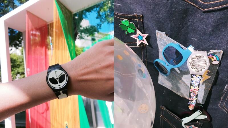夜光外星人、七彩調色盤、加厚錶帶…都是這系列必買!SWATCH秋冬系列也能閃亮街頭