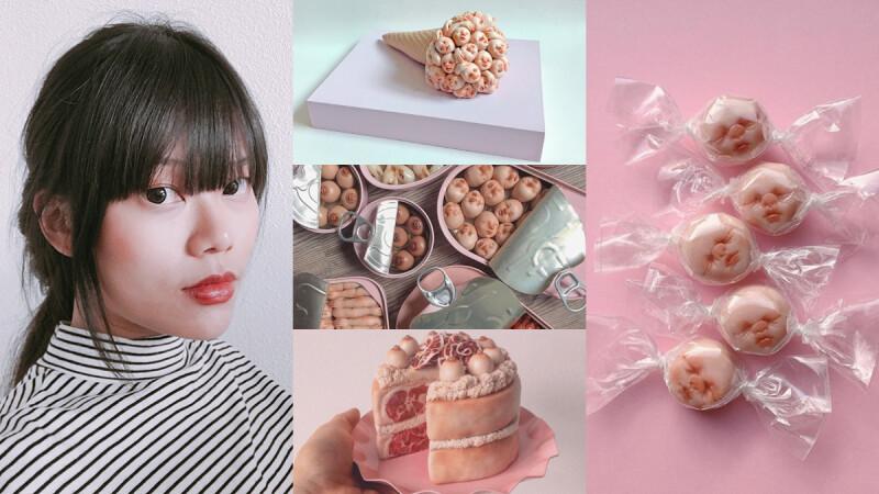 可愛又可怕的她!新加坡藝術家 Qimmy Shimmy,話題創作 嬰兒罐頭、心臟蛋糕 既獵奇又時髦~