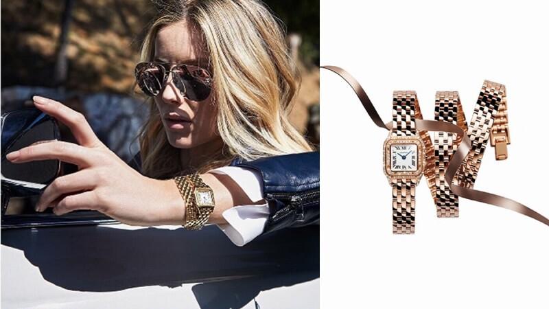 時尚名人優雅穿搭卡地亞全新美洲豹腕錶
