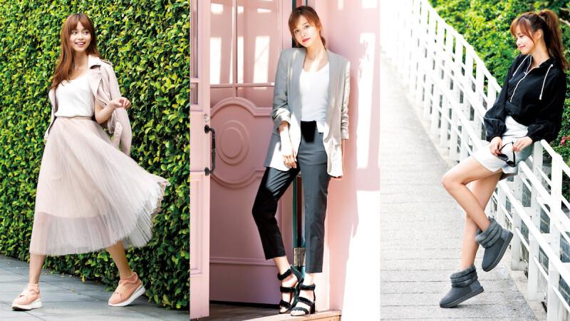 潮模洛儀秋冬的搶眼風格TIPS,全靠擁有奢華靈魂的UGG®各款美鞋來助攻!