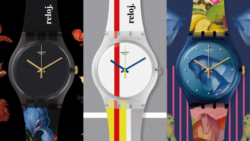 蒙德里安的經典抽象畫、 凡德阿斯特的細膩花卉、法蘭茲馬克的彩繪,這一季都成為了Swatch手錶的藝術設計靈感!