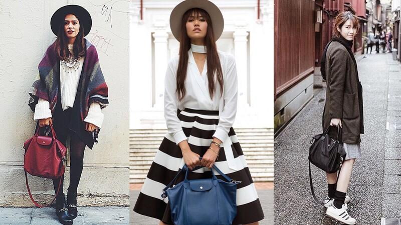 就是這個包!時尚潮人與明星都有的超好搭摺疊包,秋冬時髦新色讓人好想再入手!