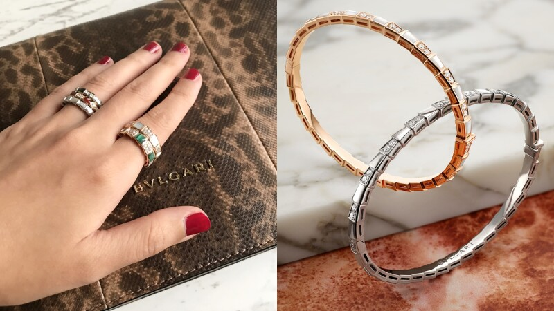 【試戴報告】Bulgari寶格麗Serpenti Viper系列珠寶,抽象蛇鱗造型、輕巧簡約、超好混搭!