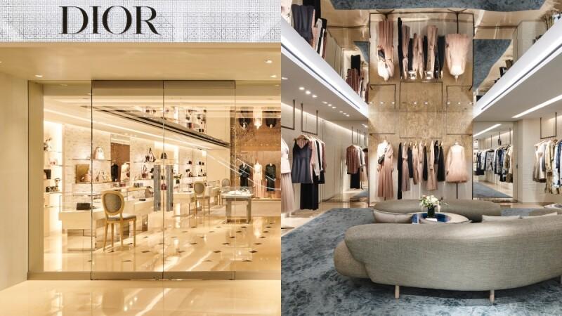 上下鏡射的顛倒空間實在太時髦!融合典雅藍、奢華金,DIOR在漢神百貨打造全新概念精品店