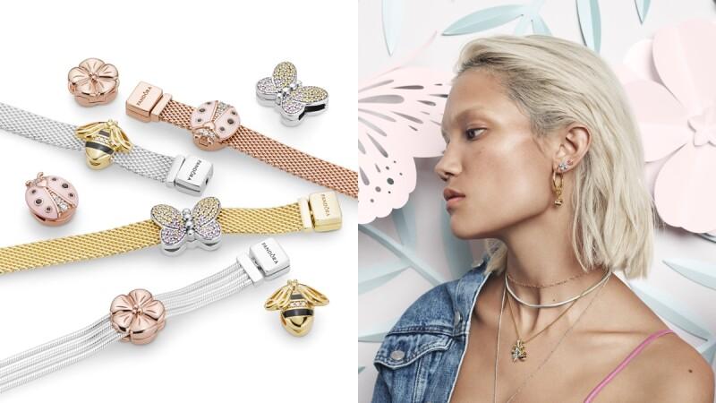 粉紅瓢蟲、幸運草、蝴蝶…Pandora春季系列打造指尖的浪漫秘境花園!