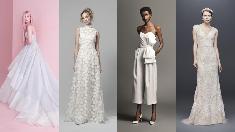 奢華皇室、連身褲裝、復古立領、浪漫薰衣草紫…2019年必知的8大婚紗趨勢