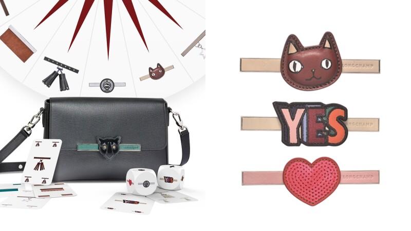 超萌貓咪、亮片愛心…要什麼釦牌自己配!Longchamp全新推出Game On系列小方包