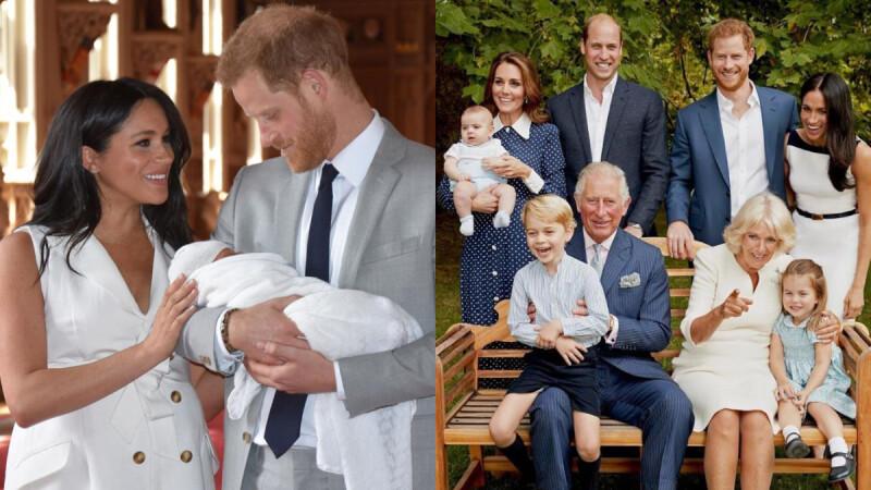 終於亮相!哈利王子攜梅根王妃,超可愛「小亞契」現身,皇家萌娃團再添生力軍~