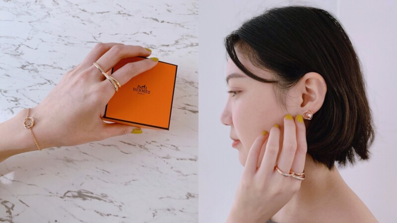 【試戴報告】台幣2萬起就能擁有!Hermès愛馬仕全新Vertige cœur系列珠寶,低調好質感太值得收