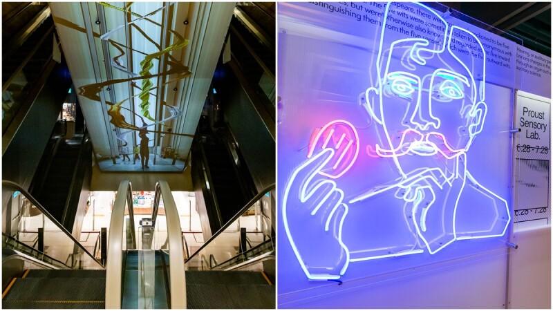 有史以來最大!誠品「信義藝術計畫」12件作品登場,手扶梯變巨大掃描器、外牆機器手臂舞動,限時展出1個月