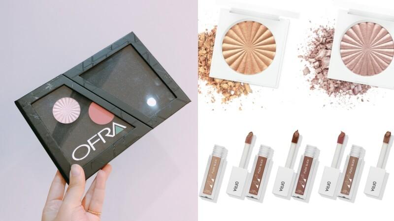OFRA首度推出磁吸式彩妝盤,自由組裝想要的打亮、腮紅盤!打亮餅新色、超持久爆水唇露同步上市