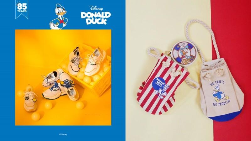 復古風粗繩束口水桶包必收!Grace gift聯手迪士尼推出唐老鴨聯名3D系列