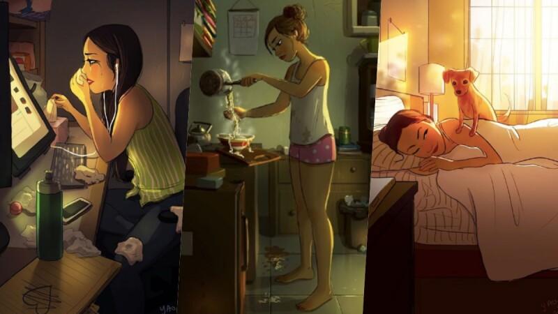 失戀如何放下?插畫家畫出「分手後的生活」直到自己邁向更適合的幸福